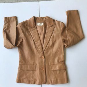 Margaret Godfrey Leather Jacket Size 6P Petite VTG